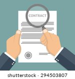 contract inspection concept  ... | Shutterstock .eps vector #294503807