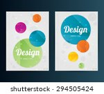 brochure design template.... | Shutterstock .eps vector #294505424