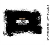 grunge black background  vector | Shutterstock .eps vector #294506315