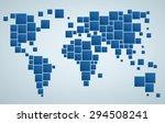 geometrical stylized world map... | Shutterstock .eps vector #294508241