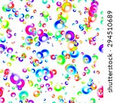 abstract colorful rings on... | Shutterstock . vector #294510689