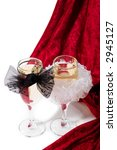two glasses of champagne with... | Shutterstock . vector #2945127