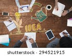 business meeting against... | Shutterstock . vector #294521915