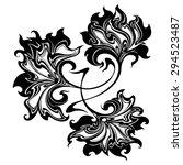 graphic flowers for design  ...   Shutterstock .eps vector #294523487