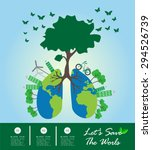 save the world and go green... | Shutterstock .eps vector #294526739