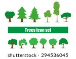 variety of trees in a flat | Shutterstock .eps vector #294536045