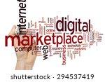 digital marketplace concept... | Shutterstock . vector #294537419