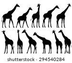 Set Vector Silhouettes Of...