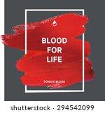 donate blood motivation... | Shutterstock .eps vector #294542099