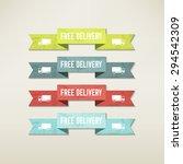 vintage elements set   Shutterstock .eps vector #294542309