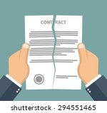 contract termination concept.... | Shutterstock .eps vector #294551465