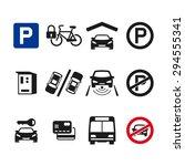 vector parking icon set 03   Shutterstock .eps vector #294555341