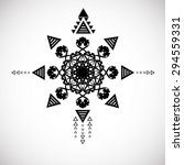 grunge tribal tattoo elements... | Shutterstock .eps vector #294559331