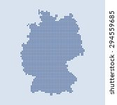 map of germany | Shutterstock .eps vector #294559685