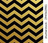 Gold Glittering Zigzag Wave...