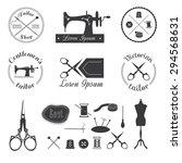 set of vintage tailor logo ... | Shutterstock .eps vector #294568631