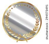 silver blank circle metallic...