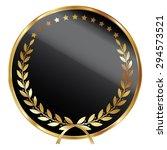 black blank circle metallic...