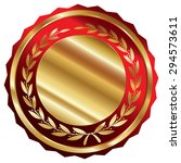 red and gold blank circle...