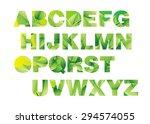 letter font alphabet vector... | Shutterstock .eps vector #294574055