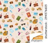 travel icons pattern   vector... | Shutterstock .eps vector #294576605