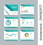 business presentation template... | Shutterstock .eps vector #294582977