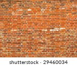 Colorful old brick wall background. - stock photo