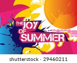 lovely summer poster. vector... | Shutterstock .eps vector #29460211