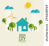 eco friendly. ecology concept... | Shutterstock .eps vector #294608969