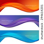 Set Of Banners In Abstract...