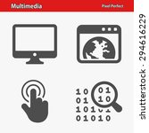 multimedia icons. professional  ... | Shutterstock .eps vector #294616229