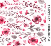 pattern color flowers... | Shutterstock . vector #294623981