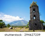 Cagsawa Church Ruins With The...