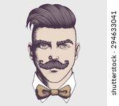 hand drawn portrait of...   Shutterstock .eps vector #294633041