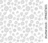 monochrome seamless pattern...