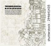 retro monochrome technical... | Shutterstock .eps vector #294641435