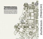 retro technical background ... | Shutterstock .eps vector #294641441
