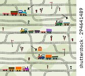 funny kids seamless pattern... | Shutterstock .eps vector #294641489