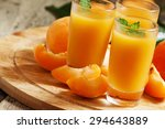 fresh apricot juice and... | Shutterstock . vector #294643889