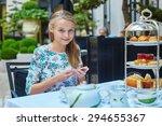 beautiful young woman enjoying...   Shutterstock . vector #294655367
