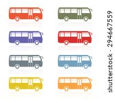 set of colored silhouettes of...   Shutterstock .eps vector #294667559