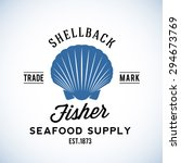 shell back fisher seafood... | Shutterstock .eps vector #294673769