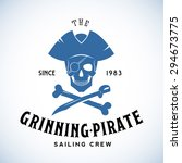 the grinning pirate sailing... | Shutterstock .eps vector #294673775