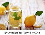 portrait of fresh lemon infused ... | Shutterstock . vector #294679145