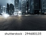 the light trails on the modern... | Shutterstock . vector #294680135
