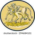etching engraving handmade... | Shutterstock .eps vector #294684101