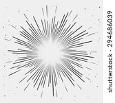 vintage monochrome sunburst.... | Shutterstock .eps vector #294686039