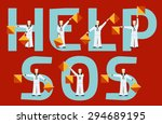 help and sos semaphore flags... | Shutterstock .eps vector #294689195