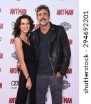 """Small photo of LOS ANGELES - JUN 29: Jeffrey Dean Morgan & Hilarie Burton arrives to the """"Ant-Man"""" World Premiere on June 29, 2015 in Hollywood, CA"""
