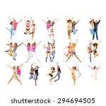 people celebrating united... | Shutterstock . vector #294694505